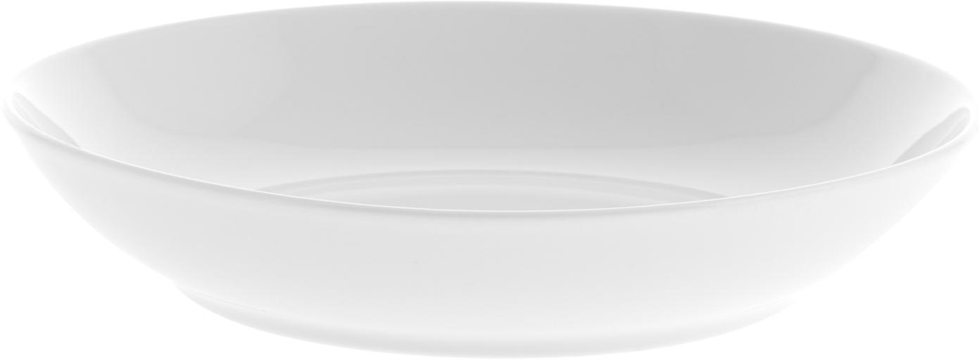 Soepbord Delight Modern, 2 stuks, Porselein, Wit, Ø 21 x H 4 cm