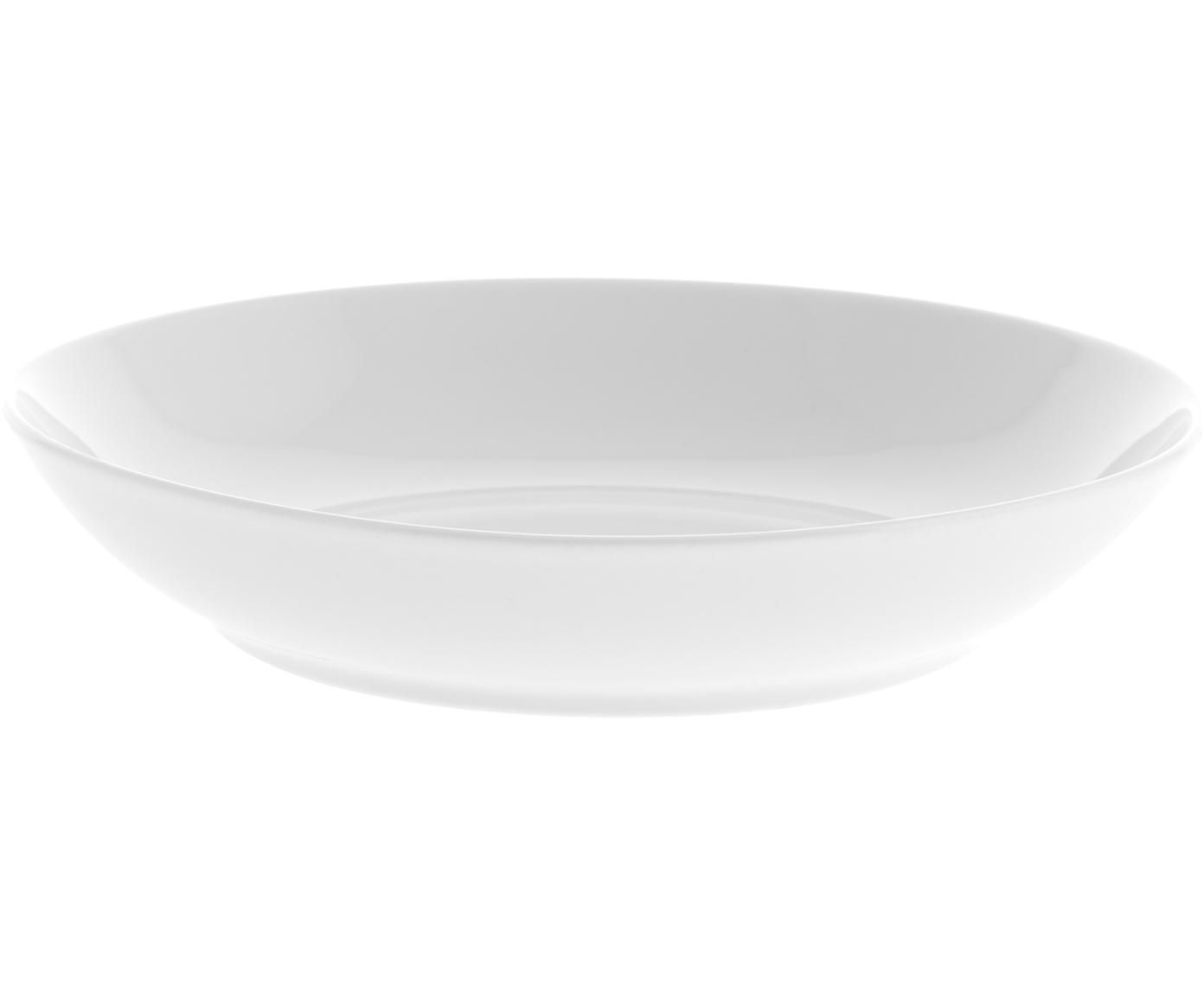 Platos hondos Delight Modern, 2uds., Porcelana, Blanco, Ø 21 x Al 4 cm