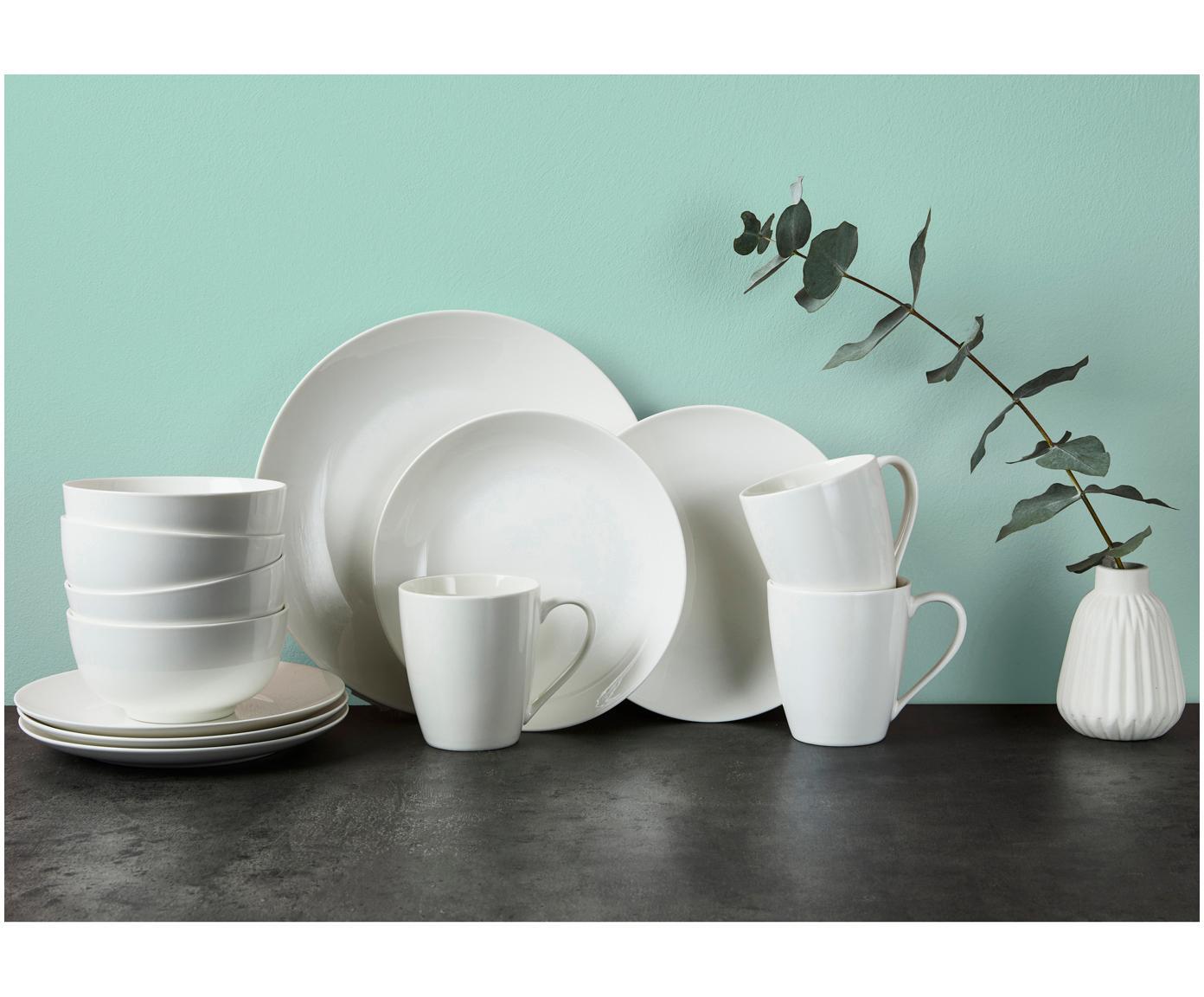 Assiettes creuses en porcelaine Delight Modern, 2pièces, Blanc