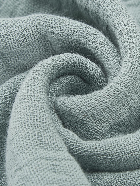 Plaid Vanly aus weichem Baumwollmusselin, 100% Baumwollmusselin, Graugrün, 130 x 180 cm