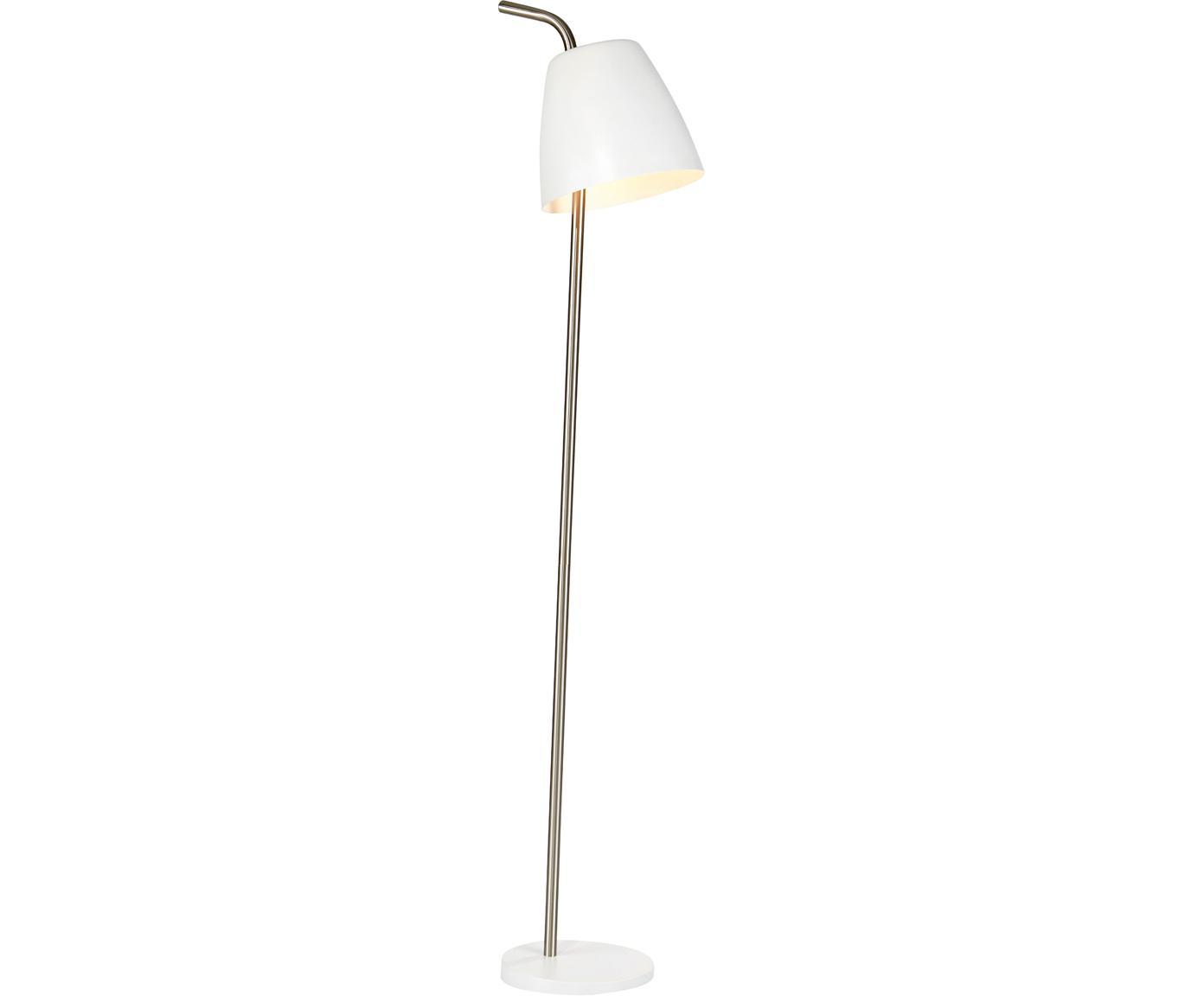 Vloerlamp Spin, Gelakt metaal, Metaalkleurig, Ø 31 x H 137 cm