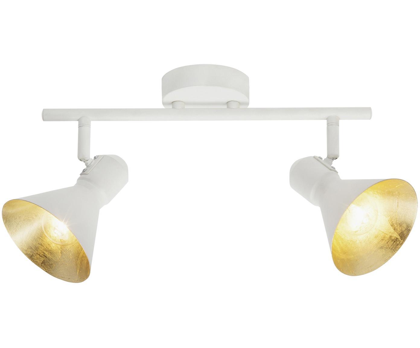 Faretti da soffitto bianchi Aztekas, Metallo, Bianco, Larg. 43 x Alt. 18 cm