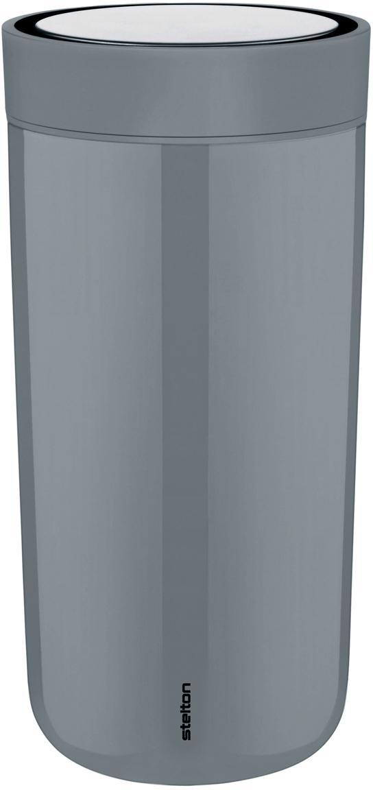 Thermobeker Click, Beker: gecoat edelstaal, Deksel: kunststof, Grijs, Ø 8 x H 17 cm