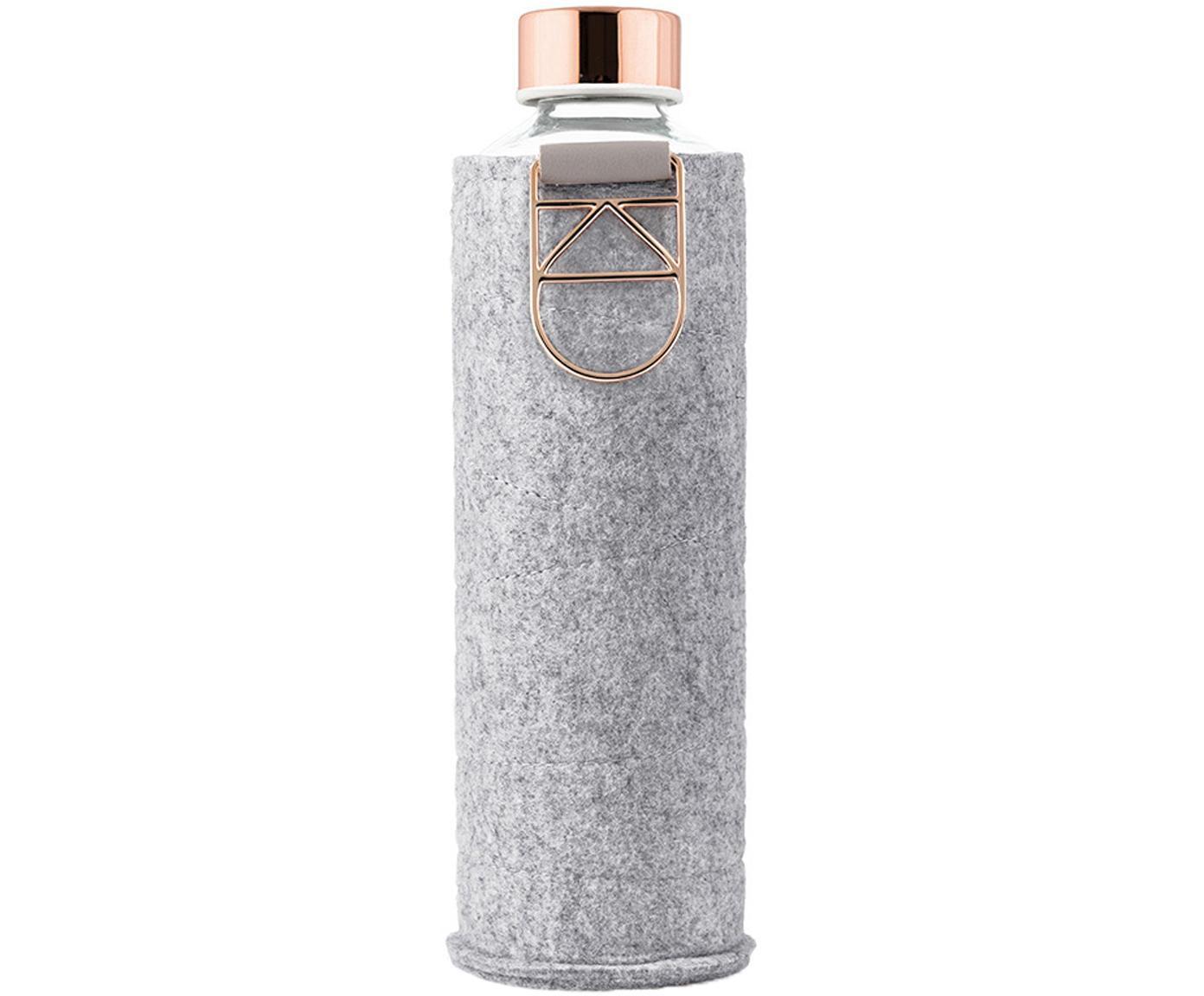 Drinkfles Mismatch, Fles: borosilicaatglas, Deksel: edelstaal, tritan (kunsts, Grijs, transparant, koperkleurig, Ø 8 x H 26 cm