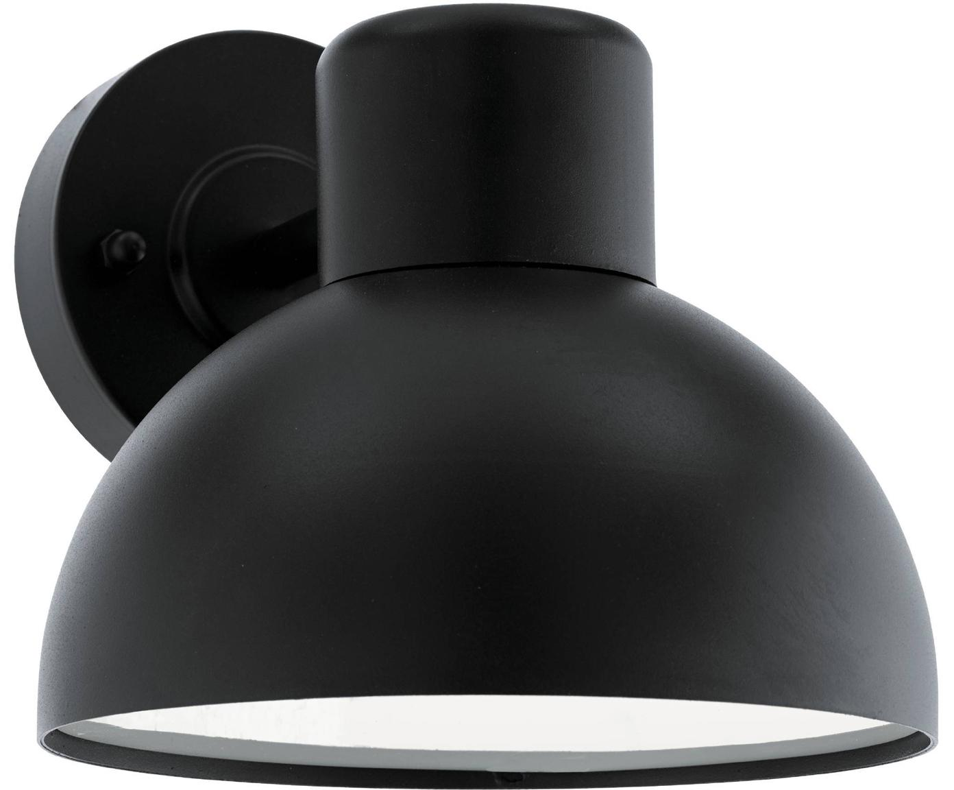 Aplique para exterior Entrimo, Pantalla: acero galvanizado, Negro, An 20 x F 19 cm