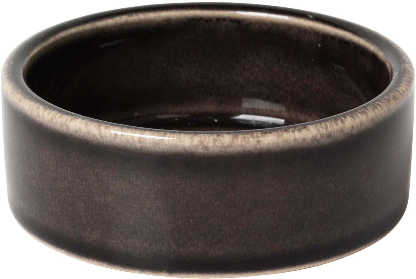 Cuencos para salsas artesanales Nordic Coal, 4uds., Gres, Marrón negruzco, Ø 8 cm