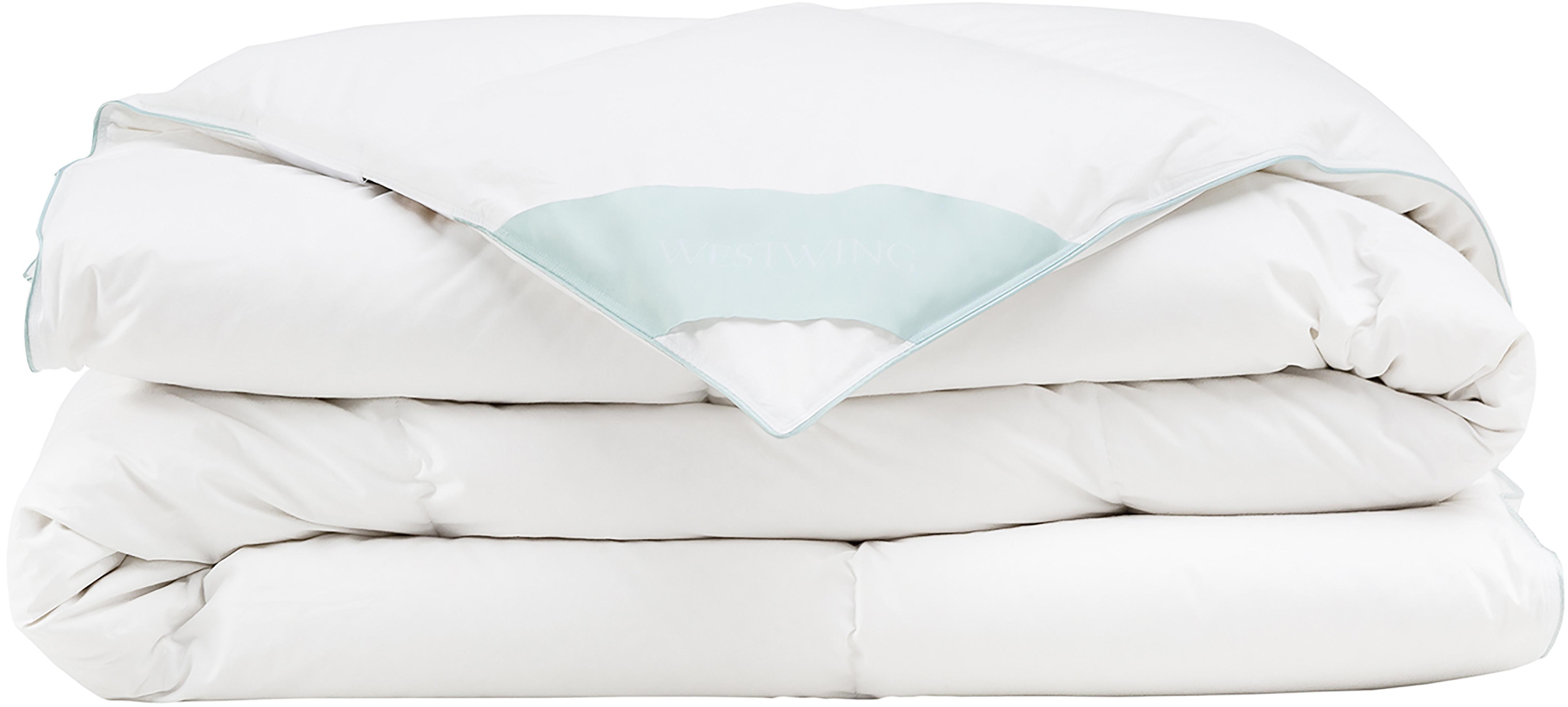 Daunen-Bettdecke Comfort, mittel, Hülle: 100% Baumwolle, feine Mak, Weiß, 240 x 220 cm