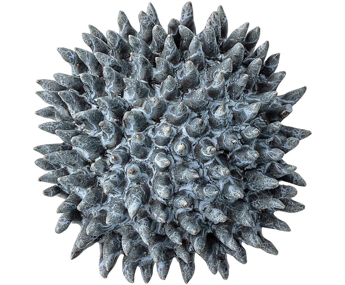 Decoratief object Gala, Steengoed, Blauw, Ø 11 x H 6 cm