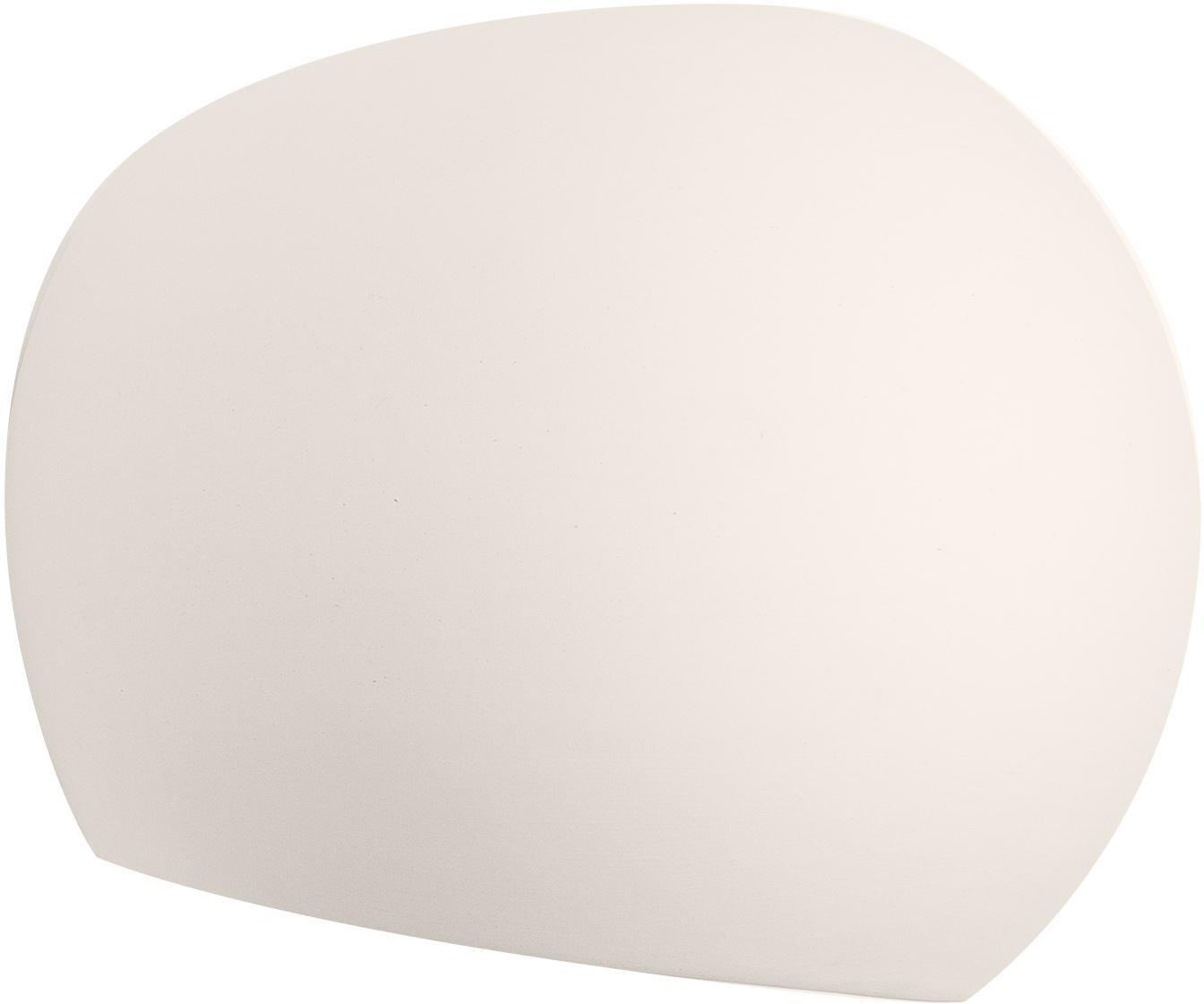 Applique in ceramica Mercury, Paralume: ceramica, Bianco, Larg. 17 x Alt. 15 cm