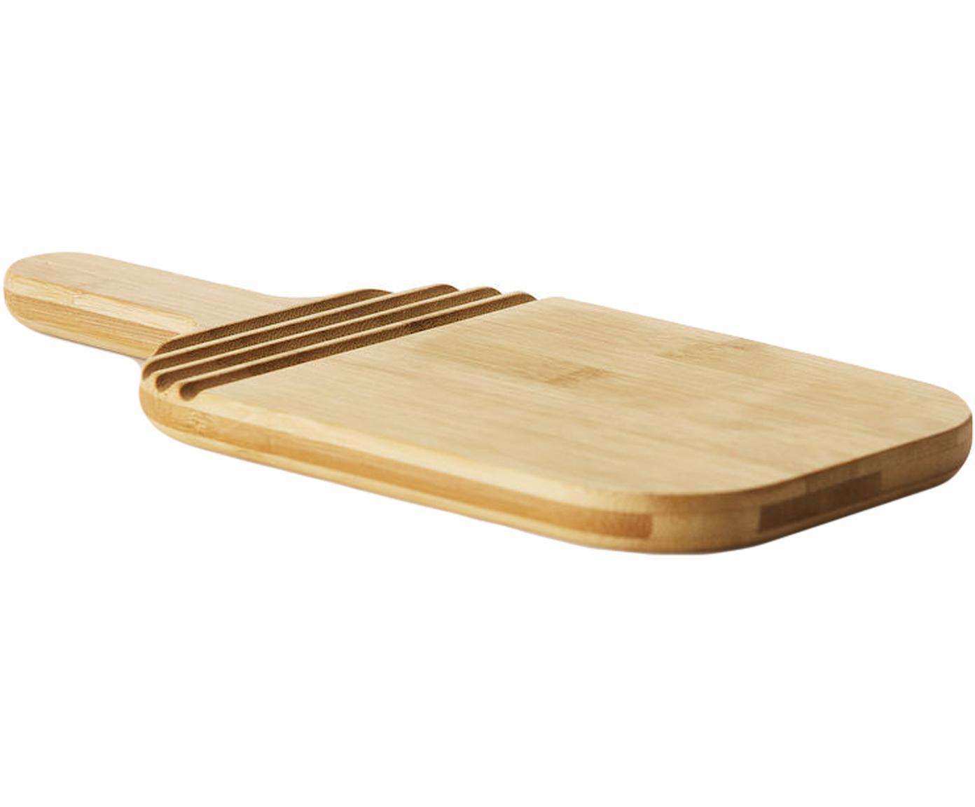 Deska do krojenia z  drewna bambusowego Monazi, Drewno bambusowe, Drewno bambusowe, S 27 x W 2 cm