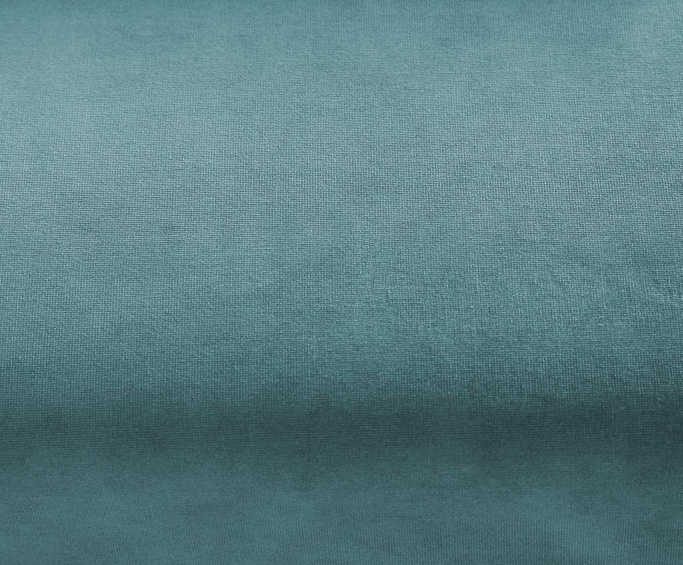 Szezlong z aksamitu Fluente, Tapicerka: aksamit (wysokiej jakości, Stelaż: lite drewno sosnowe, Nogi: metal lakierowany, Turkusowy aksamit, S 201 x G 83 cm