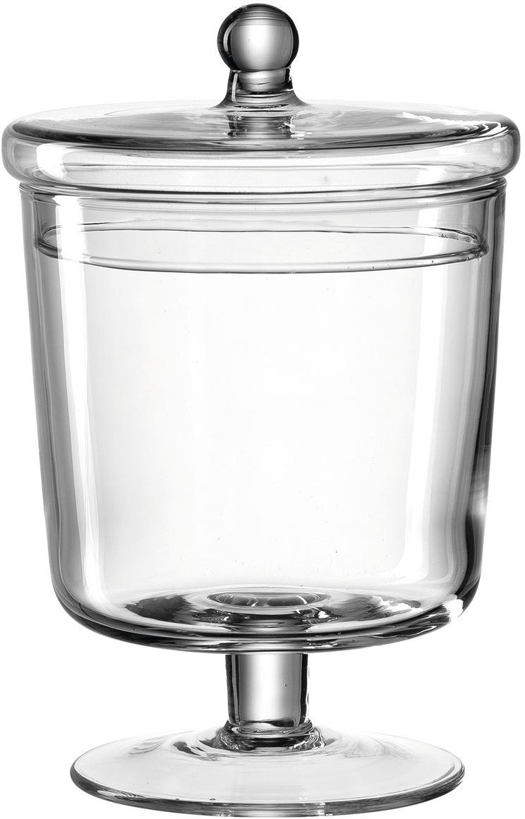 Handgemaakte opbergpot Poesia, Glas, Transparant, Ø 13 x H 19 cm