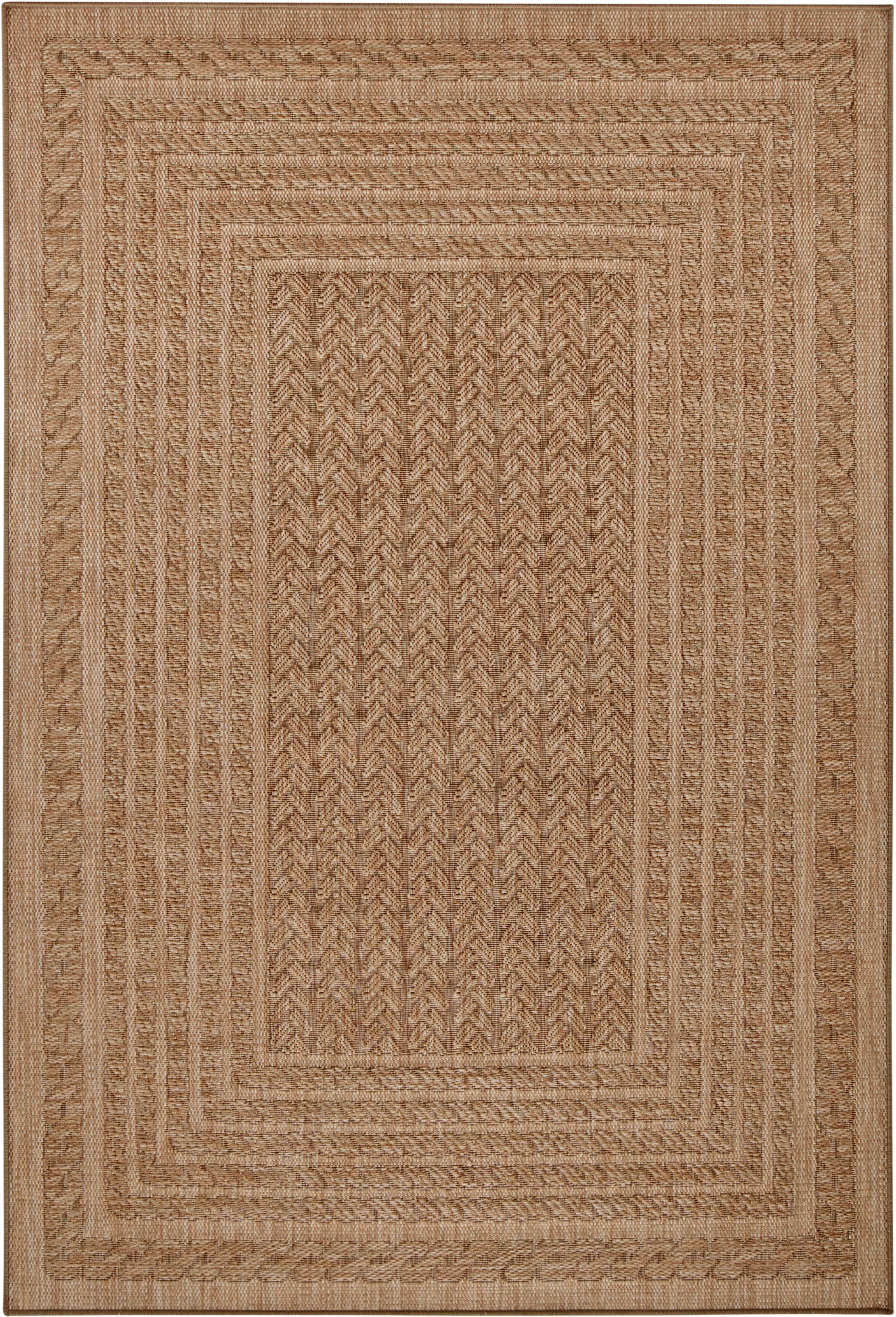 In- & Outdoor-Teppich Limonero in Jute Optik, 100% Polypropylen, Beige, Braun, B 120 x L 170 cm (Größe S)