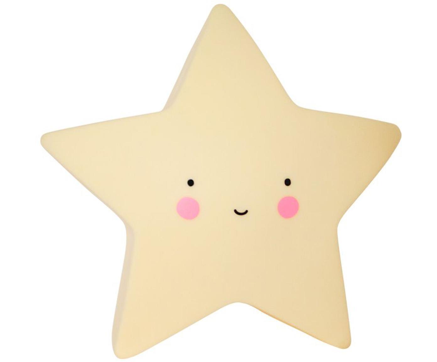 Kleines LED Leuchtobjekt Star mit Timer, Kunststoff, Gelb, Schwarz, Rosa, 14 x 14 cm