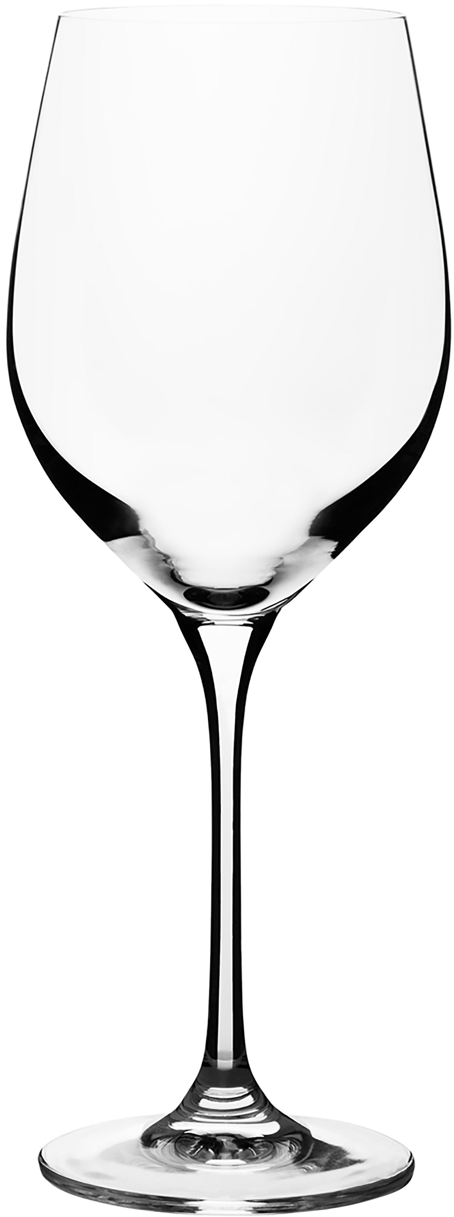 Weissweingläser Harmony aus glattem Kristallglas, 6er-Set, Edelster Glanz – das Kristallglas bricht einfallendes Licht besonders stark. So entsteht ein märchenhaftes Funkeln, das jede Weinverkostung zu einem ganz besonderen Erlebnis macht., Transparent, 390 ml