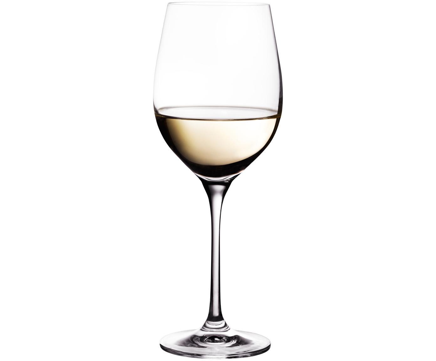 Kristallen witte wijnglazen Harmony, 6 stuks, Edele glans - het kristalglas breekt het licht en dit creëert een sprankelend effect, waardoor elk wijnglas als  een bijzonder moment kan worden ervaren., Transparant, 390 ml