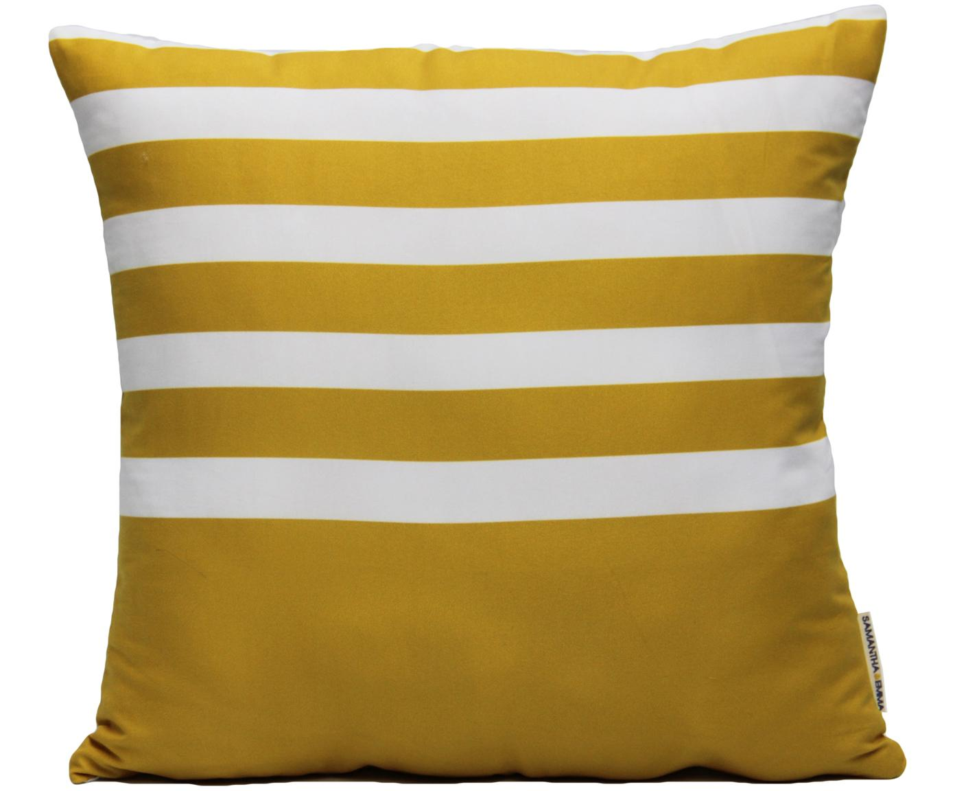 Kissenhülle Ela, 100% Polyester, Weiss, Gelb, 40 x 40 cm