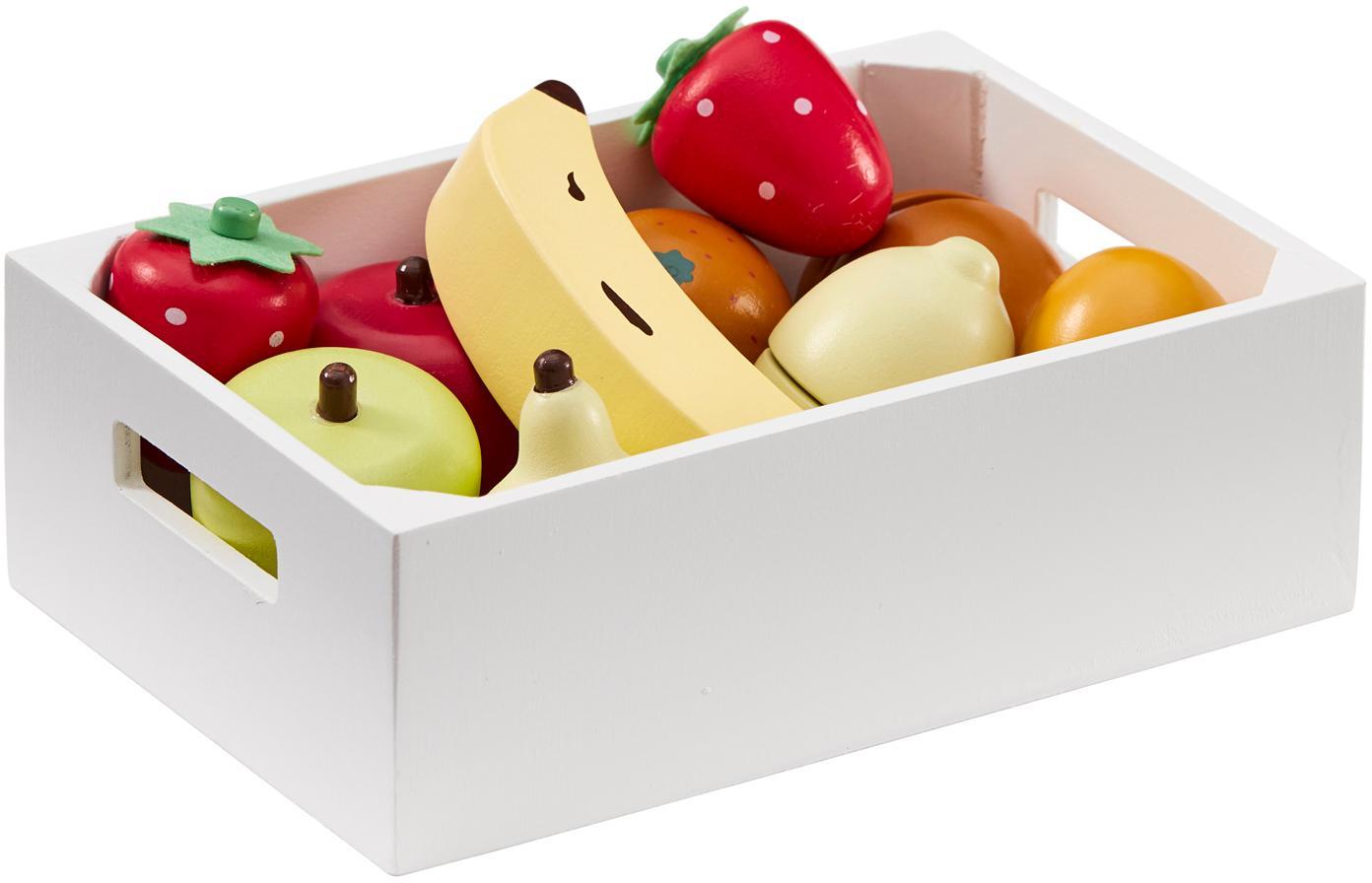 Spielzeug-Set Box of Fruits, Holz, Mehrfarbig, Sondergrößen