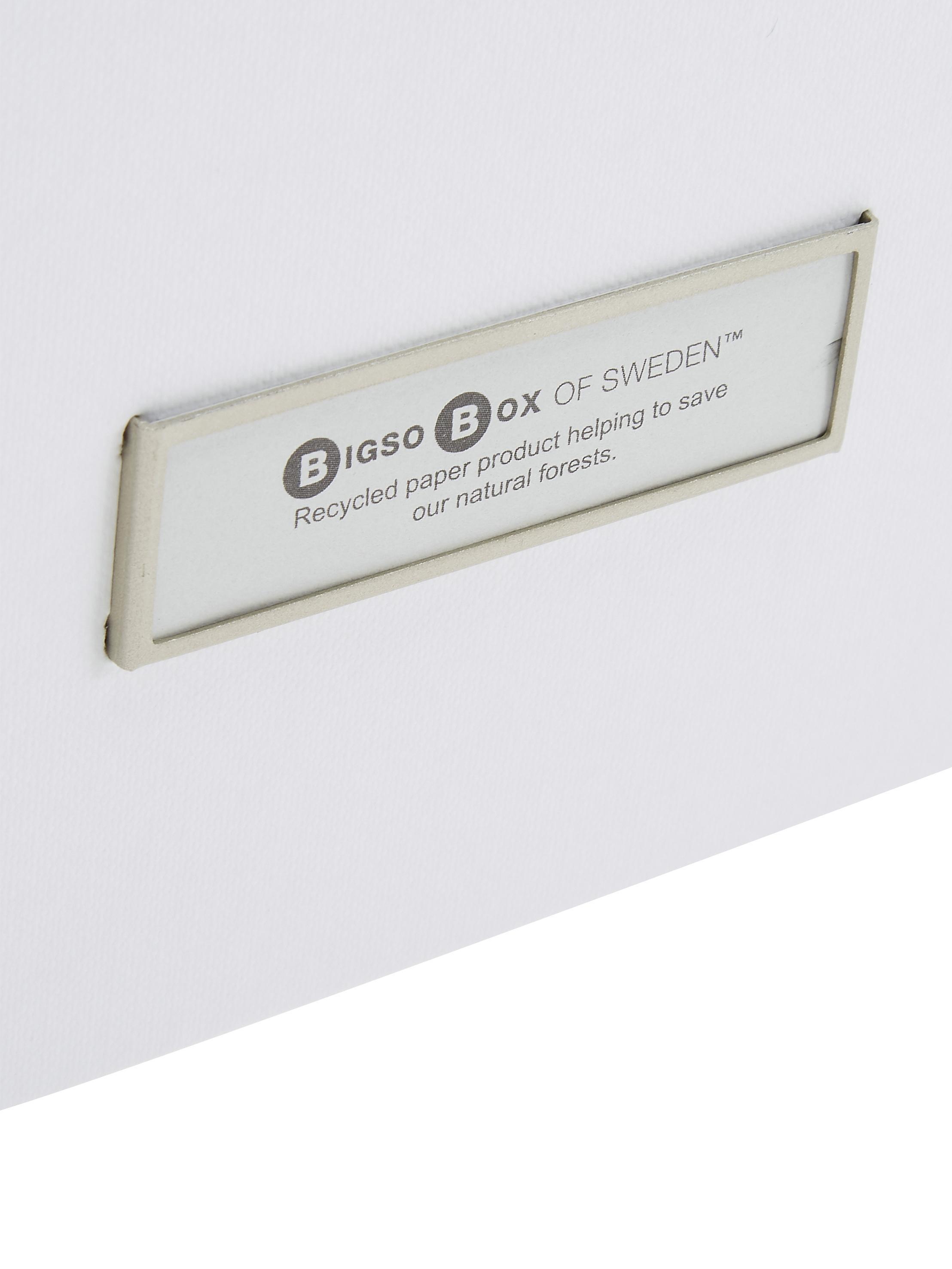 Set 3 scatole Inge, Scatola: solido, cartone laminato, Scatola esterno: bianco Scatola interno: bianco, Set in varie misure
