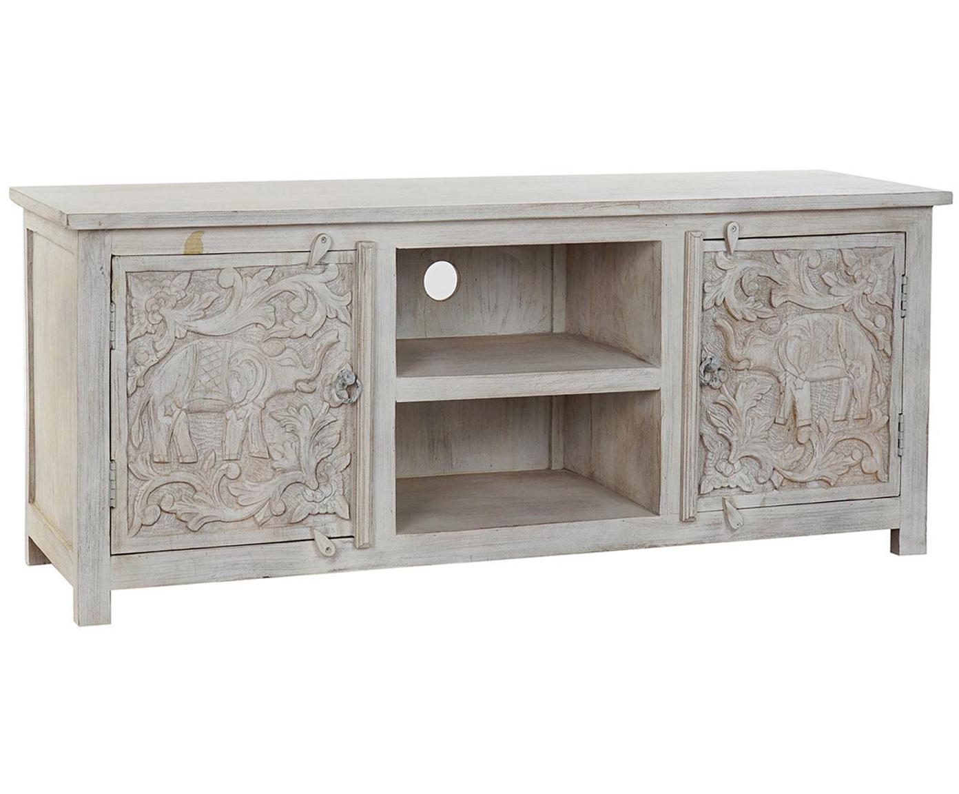 Mueble TV Elefante, Blanco, An 151 x Al 60 cm