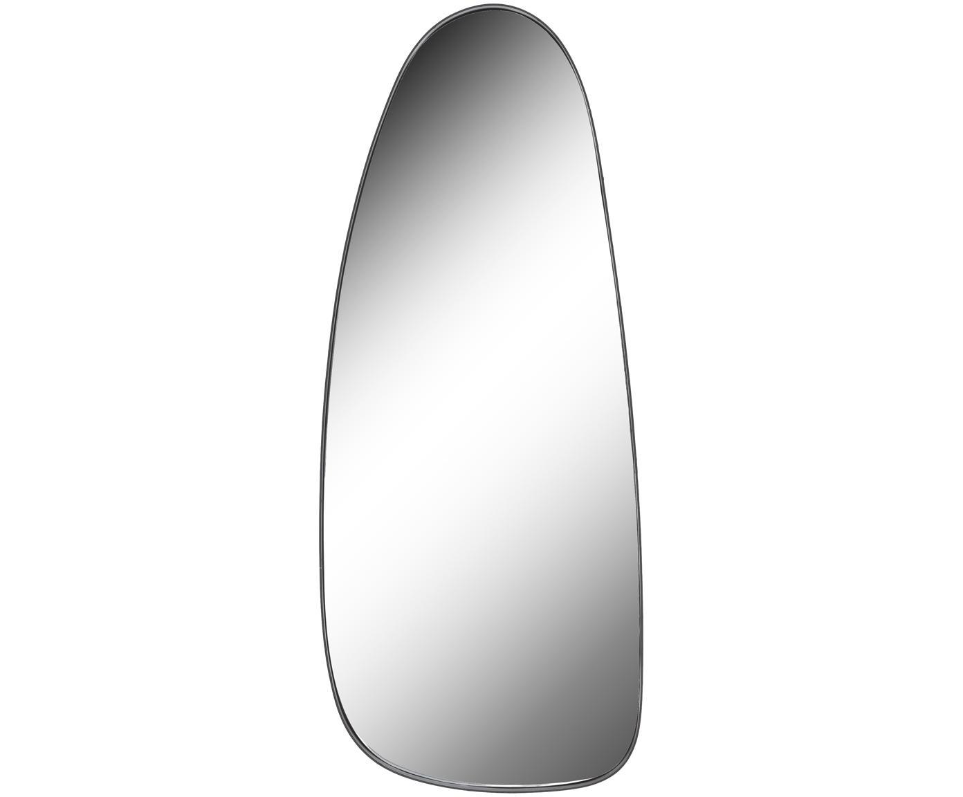Ovaler Wandspiegel Codoll mit schwarzem Metallrahmen, Rahmen: Metall, lackiert, Spiegelfläche: Spiegelglas, Rahmen: SchwarzSpiegelfläche: Spiegelglas, 39 x 95 cm