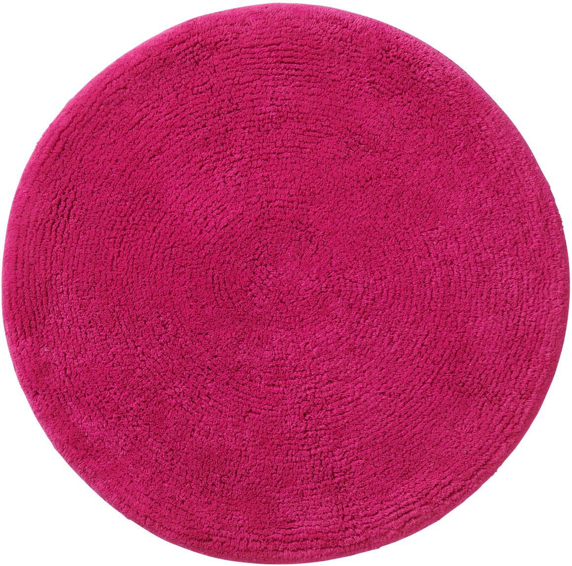 Alfombrilla de baño redonda Emma, 100%algodón, Rosa, Ø 90 cm