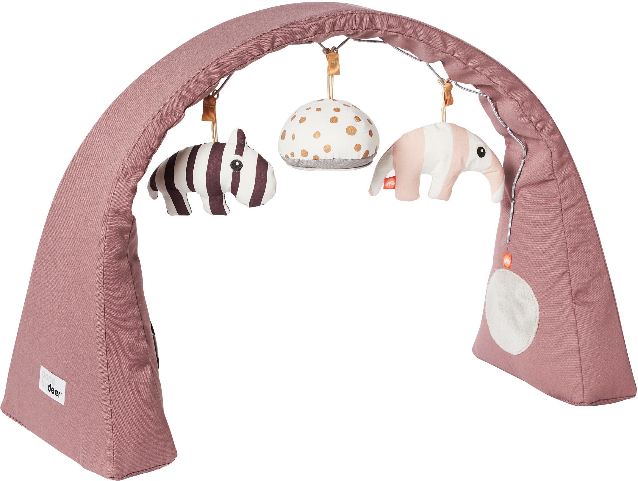 Arco da gioco Animals, Arco: 100% poliestere, Rosa, Larg. 44 x Alt. 38 cm