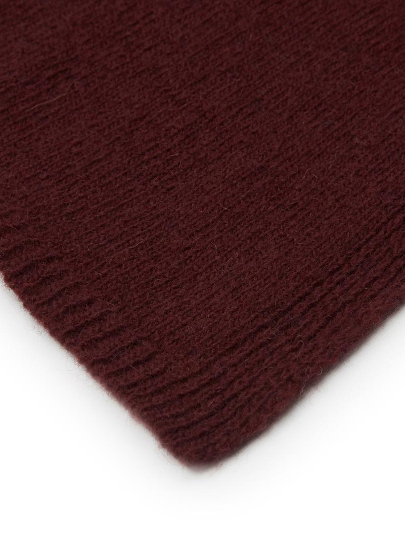 Plaid Fishbone, 80% lana, 20% poliammide, Ciliegio, Larg. 130 x Lung. 180 cm