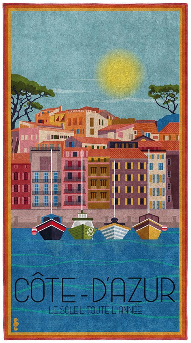 Strandtuch Riviera, Mehrfarbig, 90 x 170 cm