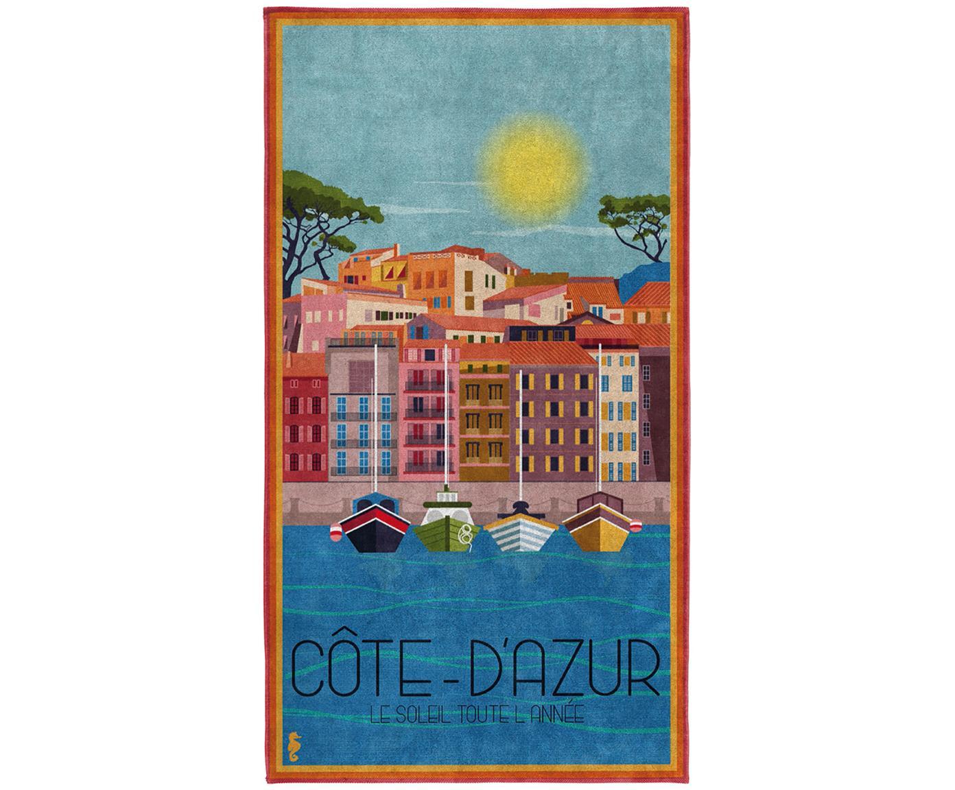 Telo mare Riviera, Cotone egiziano, qualità media 420 g/m², Multicolore, Larg. 90 x Lung. 170 cm