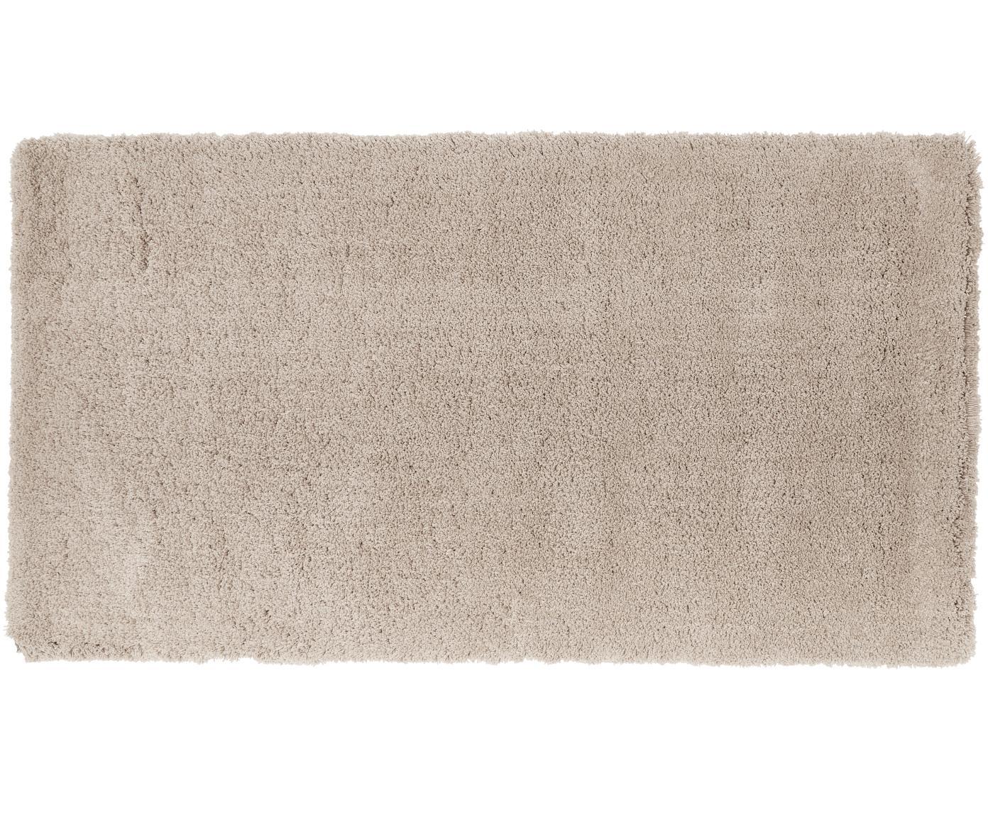 Pluizig hoogpolig vloerkleed Leighton in beige, Bovenzijde: 100% polyester (microveze, Onderzijde: 100% polyester, Beige, B 80 x L 150 cm (maat XS)