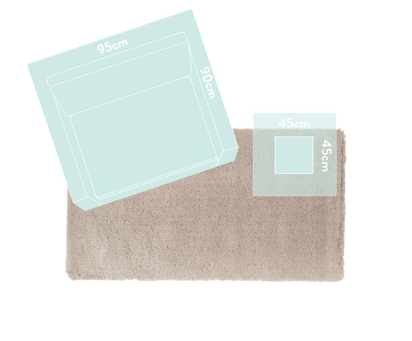 Pluizig hoogpolig vloerkleed Leighton in beige, Bovenzijde: 100% polyester (microveze, Onderzijde: 100% polyester, Beige, B 200 x L 300 cm (maat L)