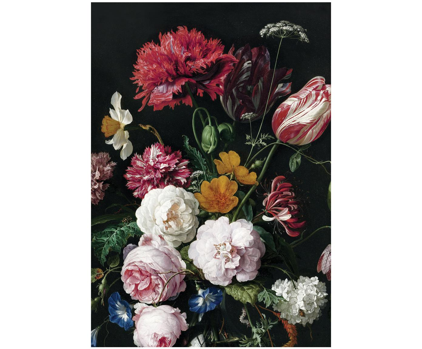 Fototapete Golden Age Flowers, Vlies, umweltfreundlich und biologisch abbaubar, Mehrfarbig, matt, 196 x 280 cm