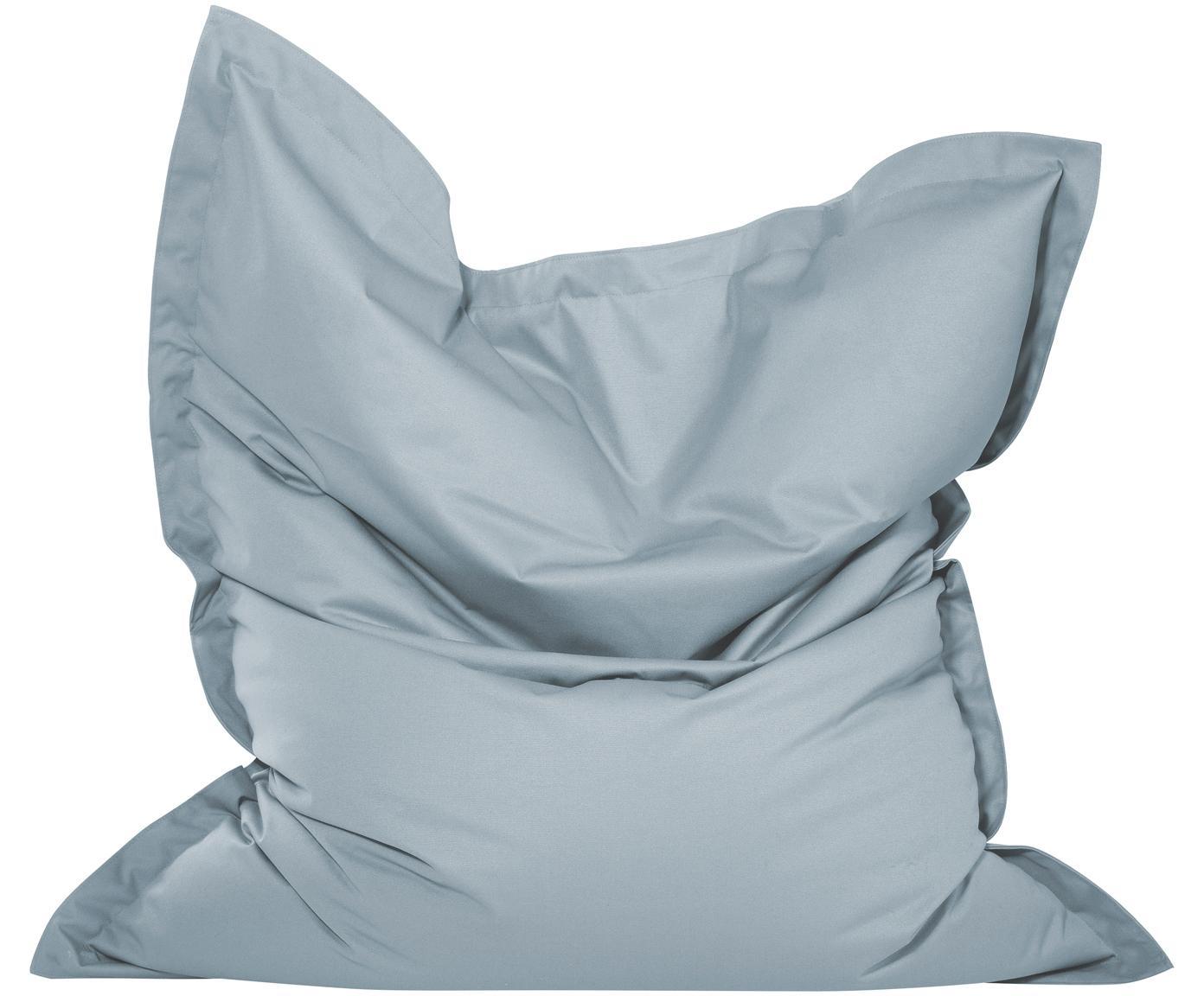 Grote zitzak Meadow, Bekleding: polyester, polyurethaan g, Steengrijs, 130 x 160 cm