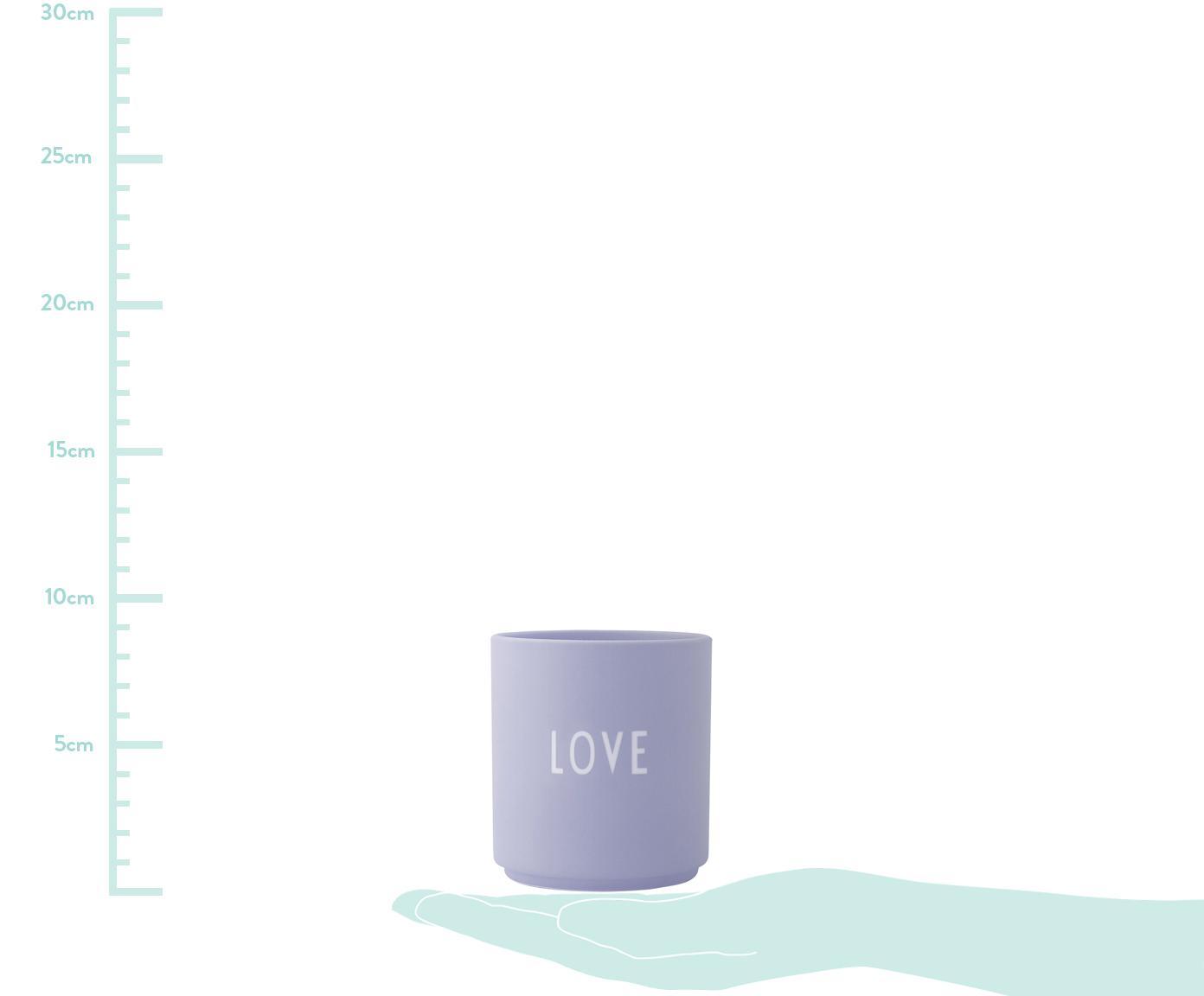 Mug design violet Favorite LOVE, Lilas, blanc