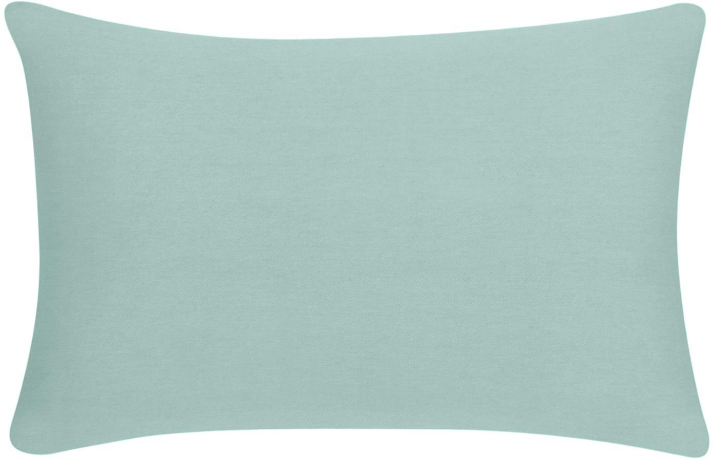 Federa arredo in cotone verde salvia Mads, 100% cotone, Verde salvia, Larg. 30 x Lung. 50 cm