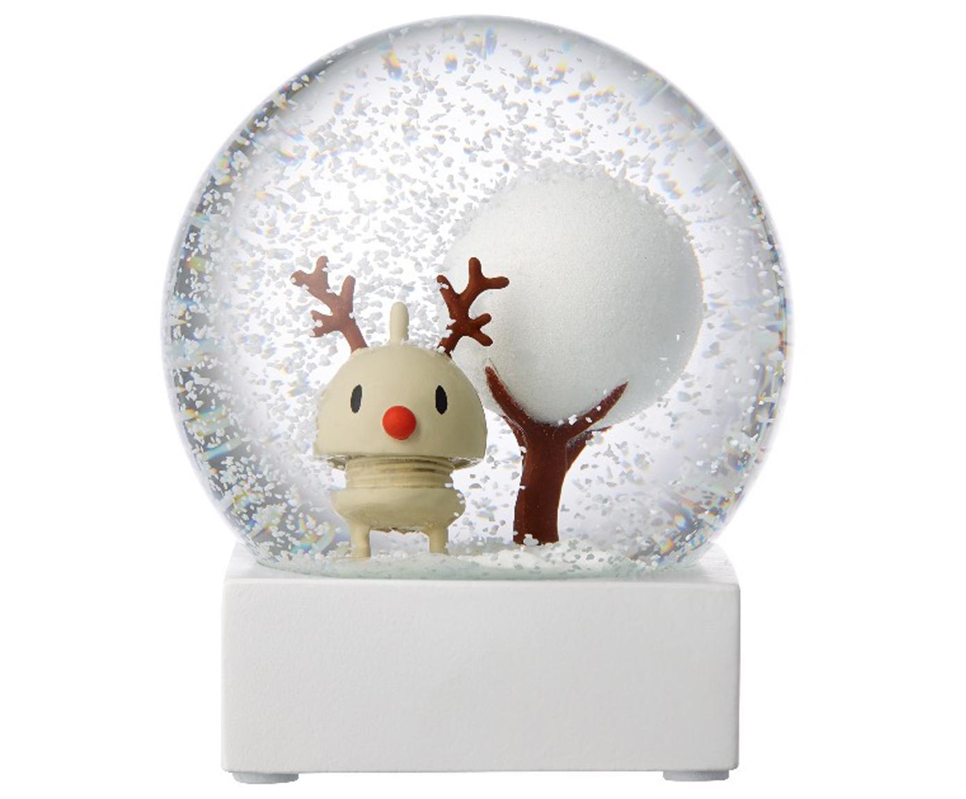 Kula śnieżna Rudolf, Biały, transparentnyny, Ø 10 x W 12 cm