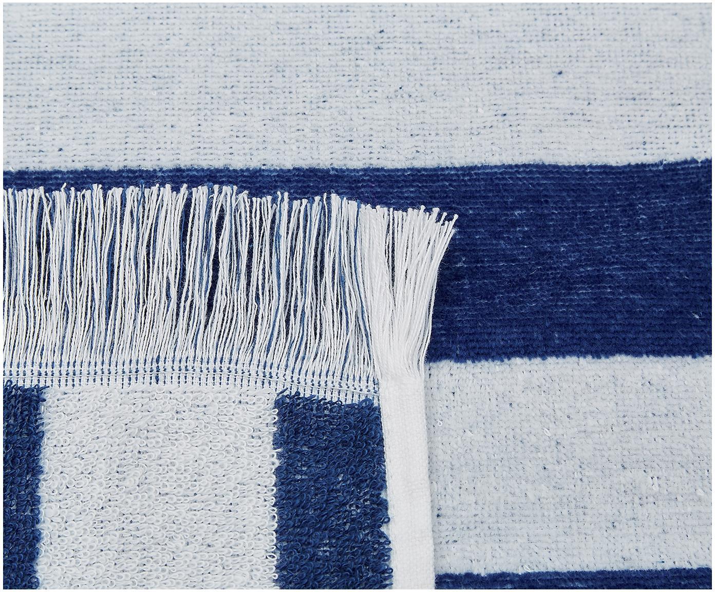 Ręcznik plażowy Mare, Bawełna Niska gramatura 380 g/m², Niebieski, biały, S 80 x D 160 cm