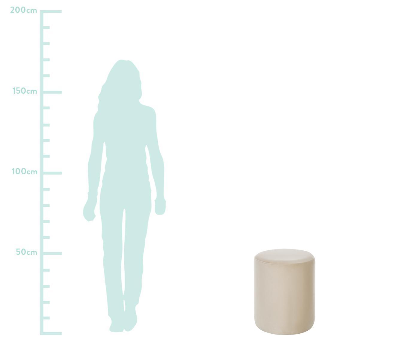 Puf z aksamitu Daisy, Tapicerka: aksamit (poliester) 2500, Aksamitny beżowy, Ø 38 x W 45 cm