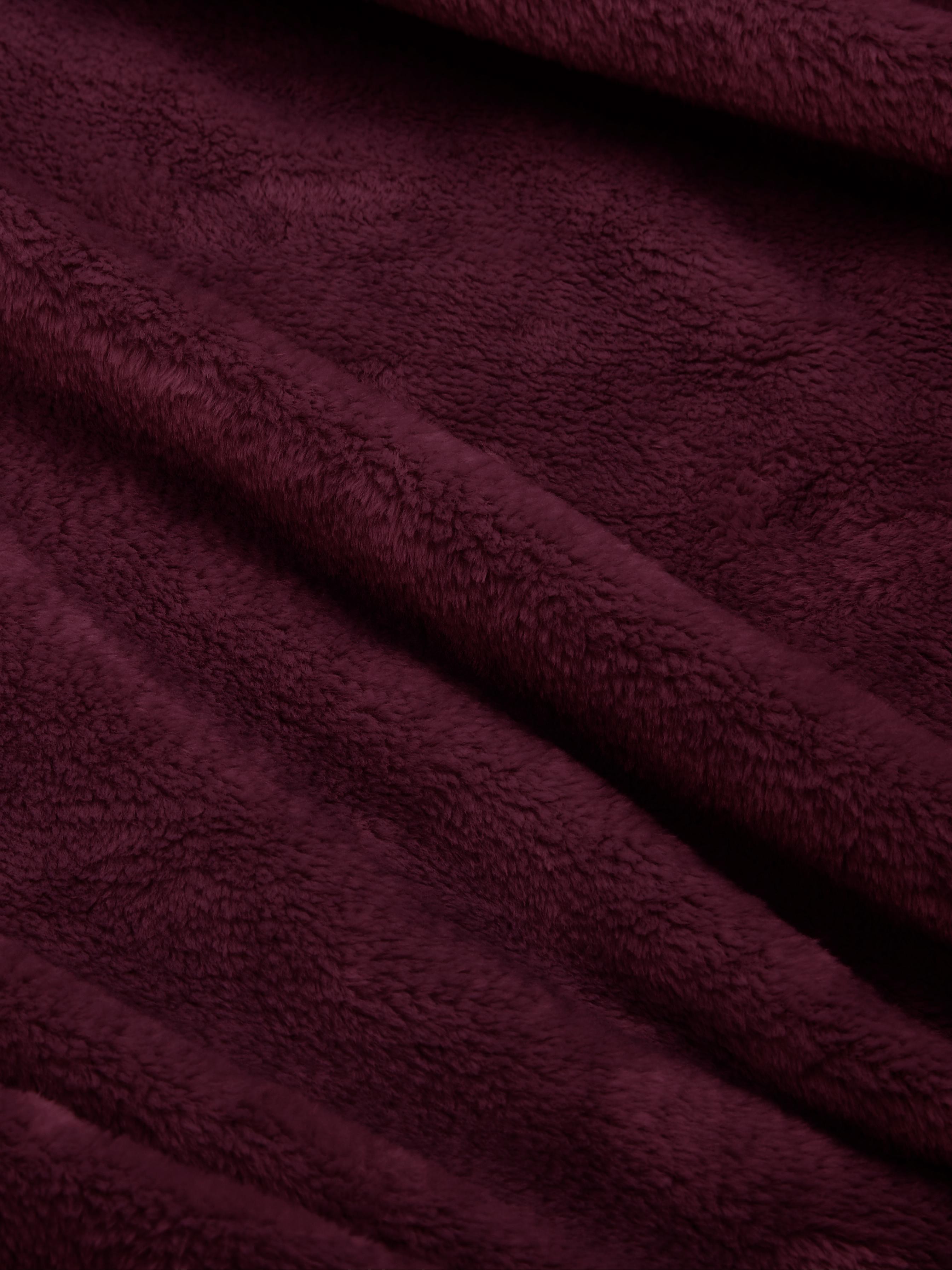 Miękki pled z polaru Doudou, 100% poliester, Wiśniowy, S 125 x D 160 cm