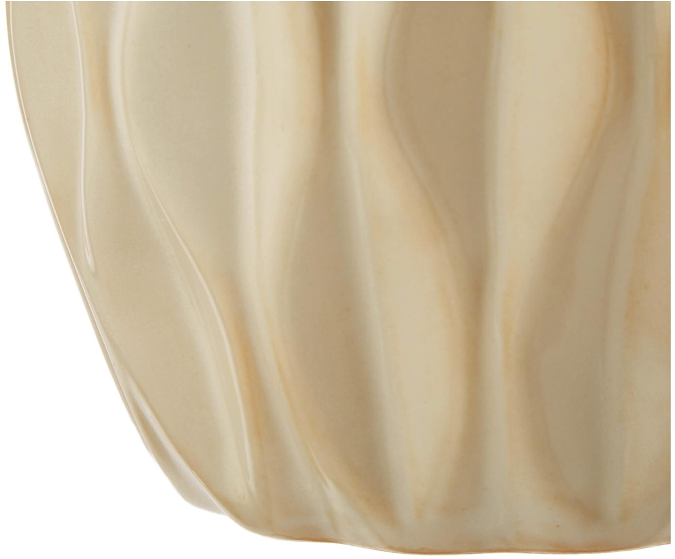 Vazenset Zalina, 4-delig, Porselein, Crèmekleurig, beige, Verschillende formaten