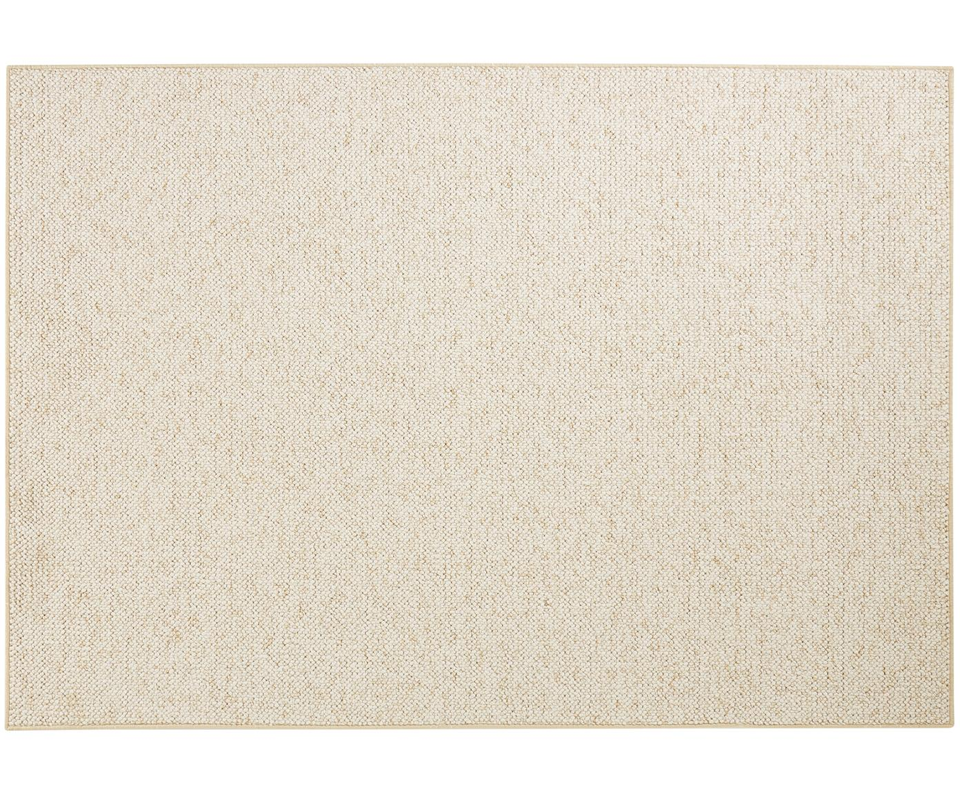 Okrągły dywan z widoczną strukturą Lyon, Kremowy, mieszany, S 100 x D 140 cm (Rozmiar XS)
