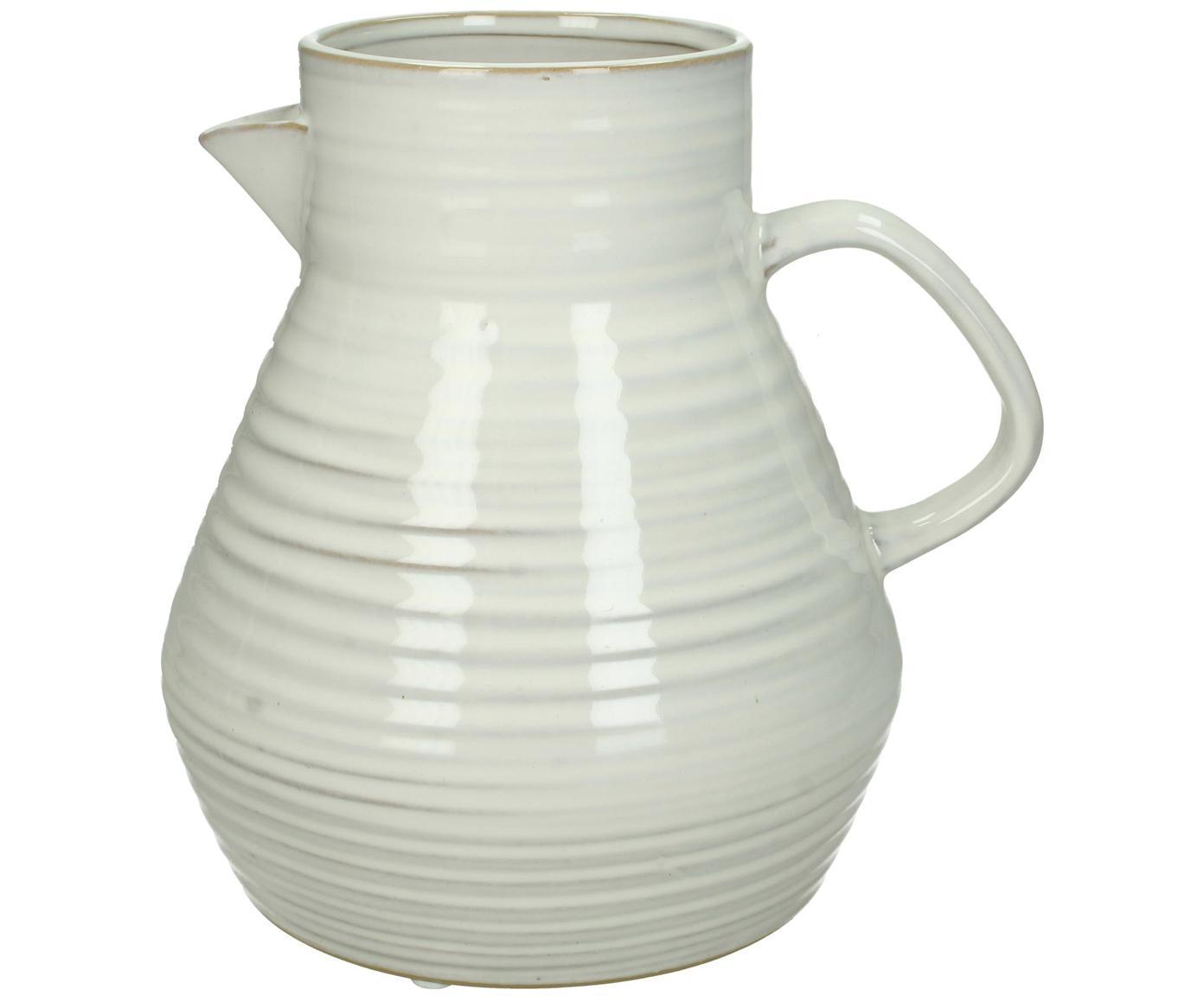 Jarrón / Jarra de gres Pither, Gres, Blanco crudo, beige, An 20 x Al 20 cm