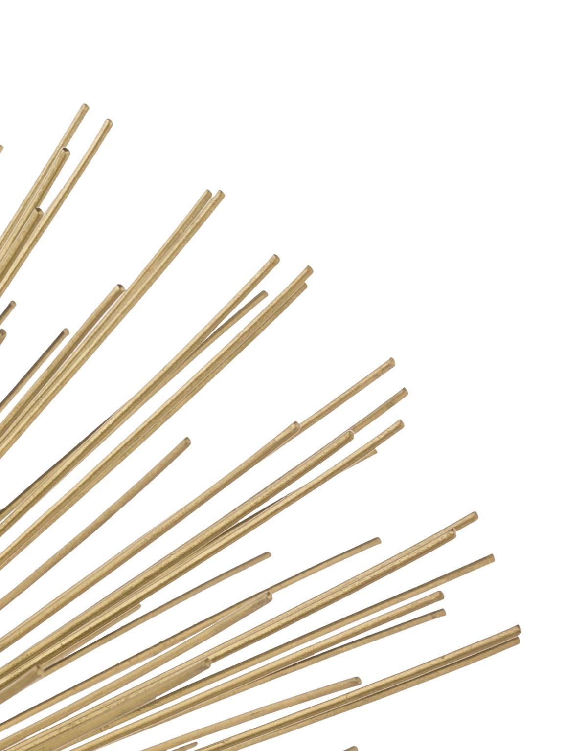 Deko-Objekt Marburch, Aufsatz: Metall, Fuß: Marmor, Unterseite: Filz, Aufsatz: Goldfarben, Fuß: Weißer Marmor, Ø 16 x H 11 cm