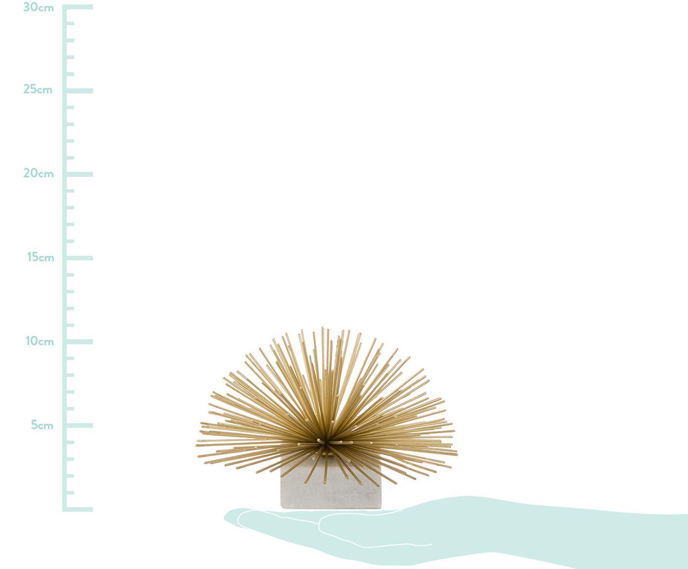 Pieza decorativa Marburch, Parte inferior: fieltro, Dorado, blanco, Ø 16 x Al 11 cm