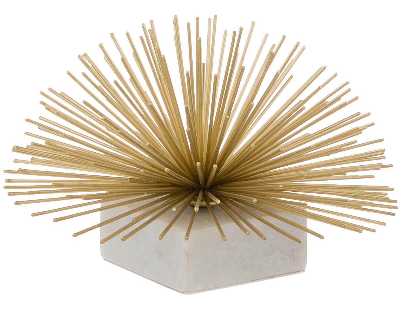 Decoratief object Marburch, Object: metaal, Voet: marmer, Onderzijde: vilt, Object: goudkleurig. Voet: wit marmer, Ø 16 x H 11 cm