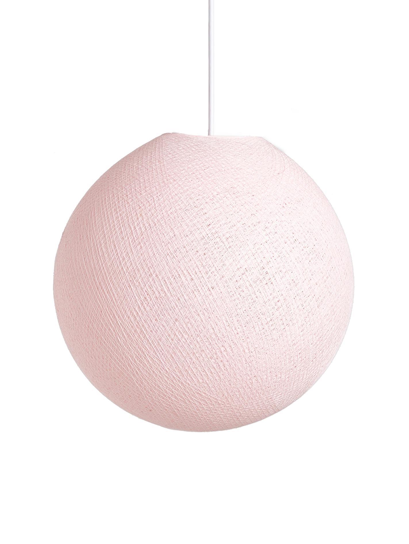 Pendelleuchte Colorain, Lampenschirm: Polyester, Helles Pink, Ø 31 x H 135 cm