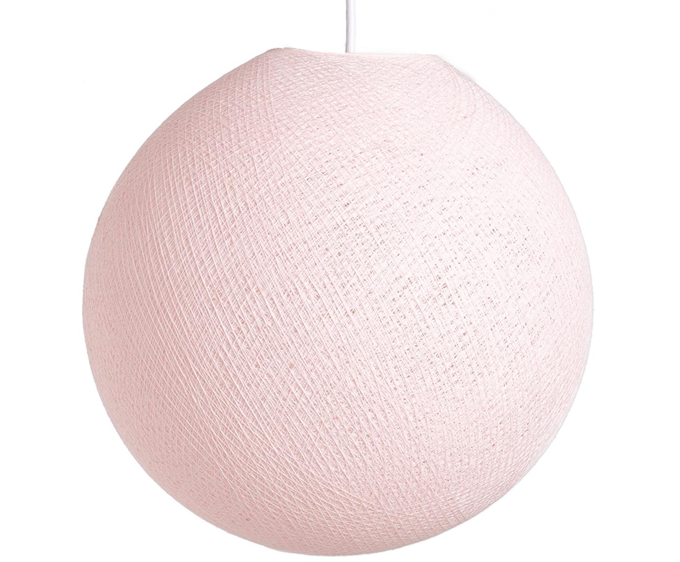 Hanglamp Colorain, Lampions: polyester, Licht roze, Ø 31 x H 135 cm