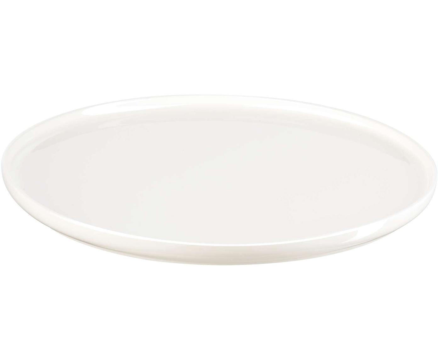 Frühstücksteller Oco, 6 Stück, Fine Bone China, Elfenbein, Ø 21 cm