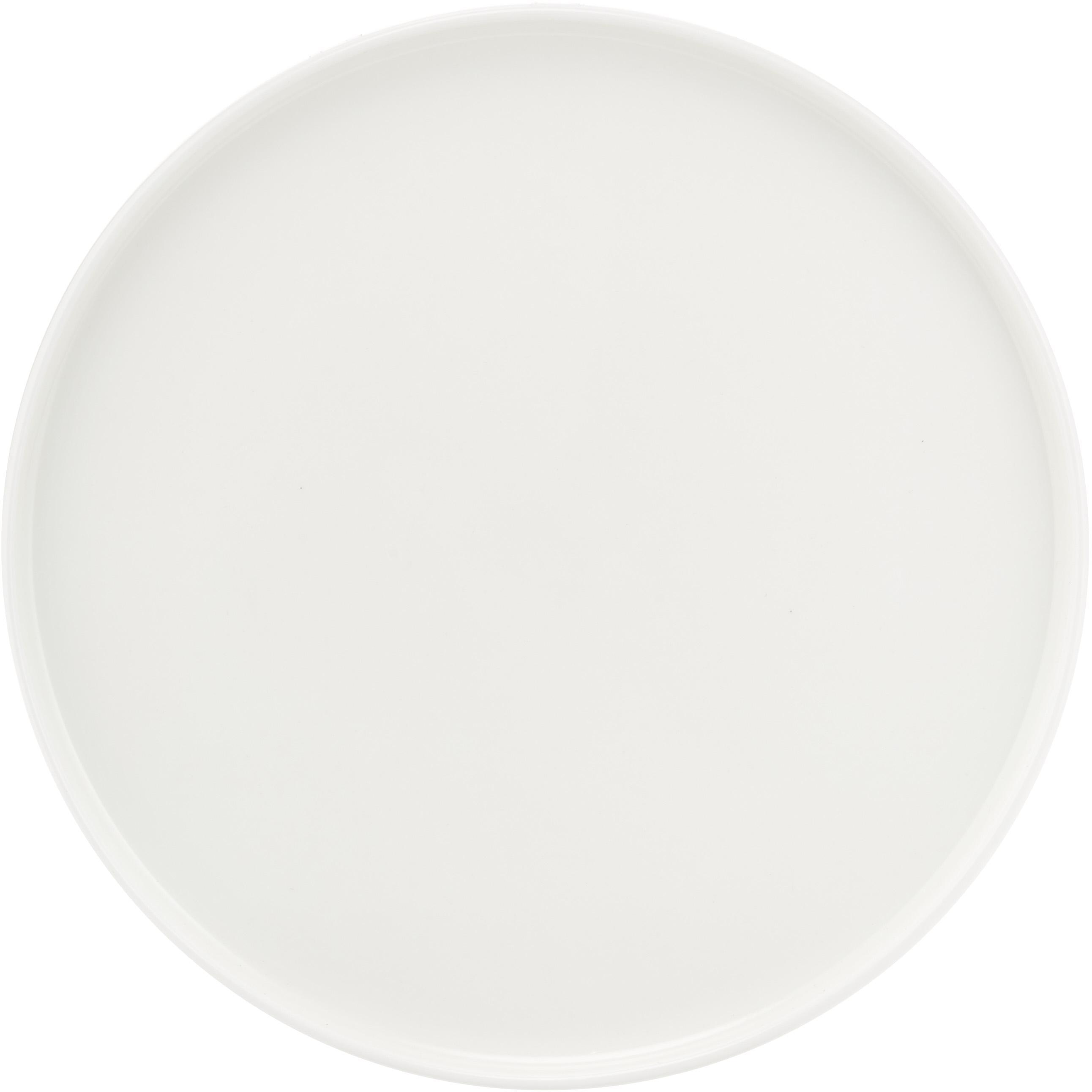 Ontbijtborden Oco, 6 stuks, Beenderporselein, Wit, Ø 21 cm